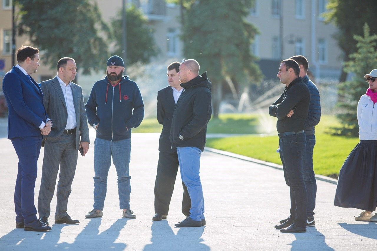 В Воронеже состоялось открытие Советской площади и запуск в городе сухого фонтана